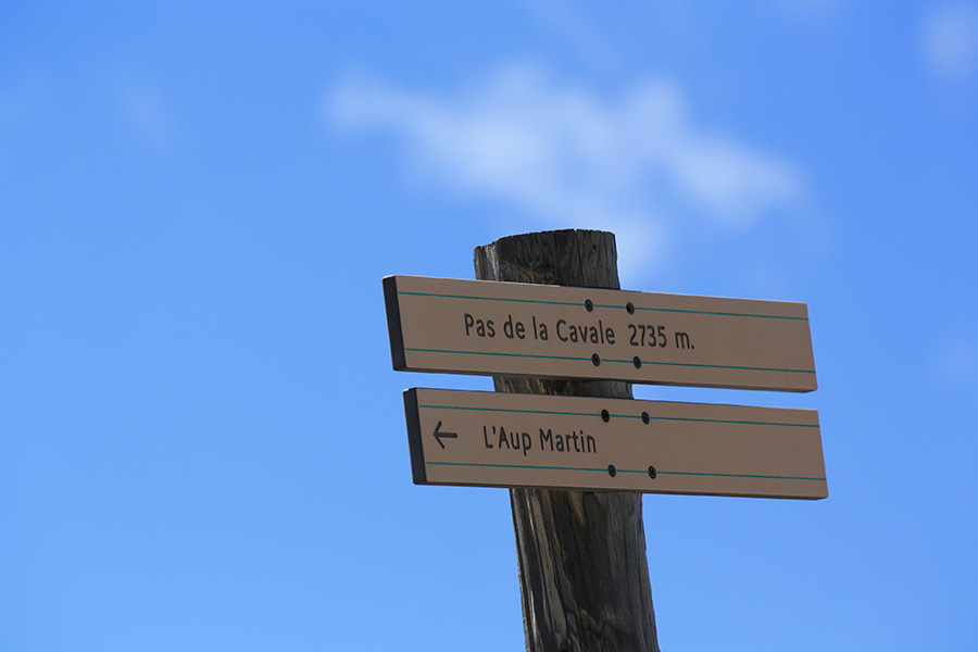 Panneau direction GR Ecrins