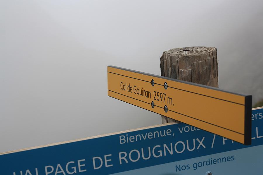 Col de Gouiran dans les nuages