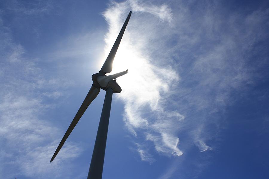 Champ d'éoliennes Les Taillades