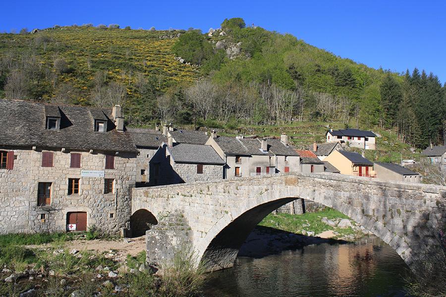 Village Le Pont de Montvert, protestants et camisards