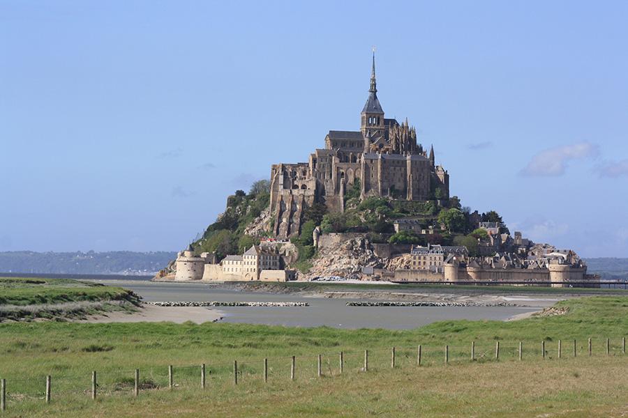 Baie du Mont Saint Michel en Normandie