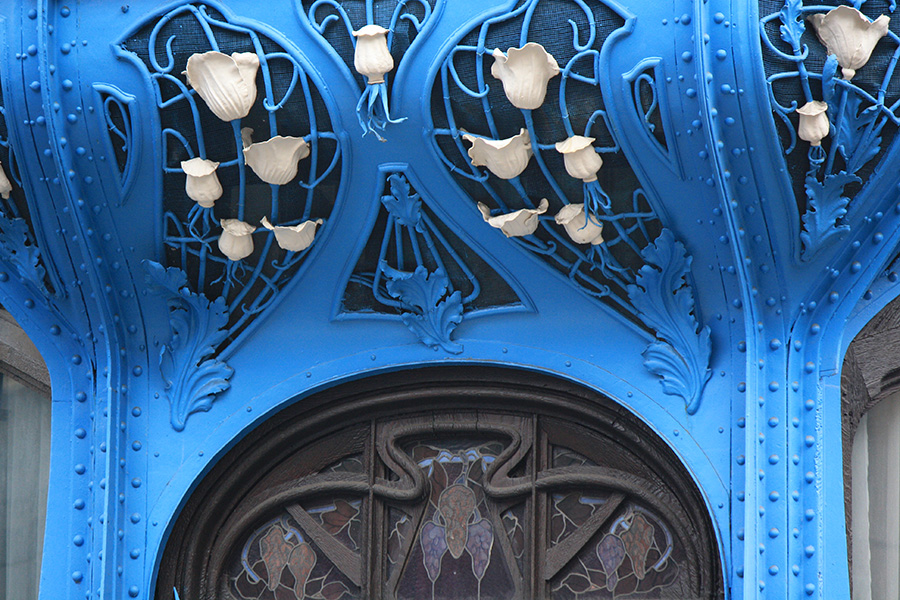 Détail floral d'Art Nouveau