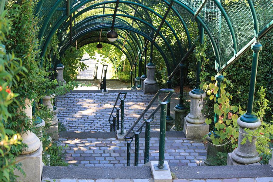 Escalier du parc de Belleville
