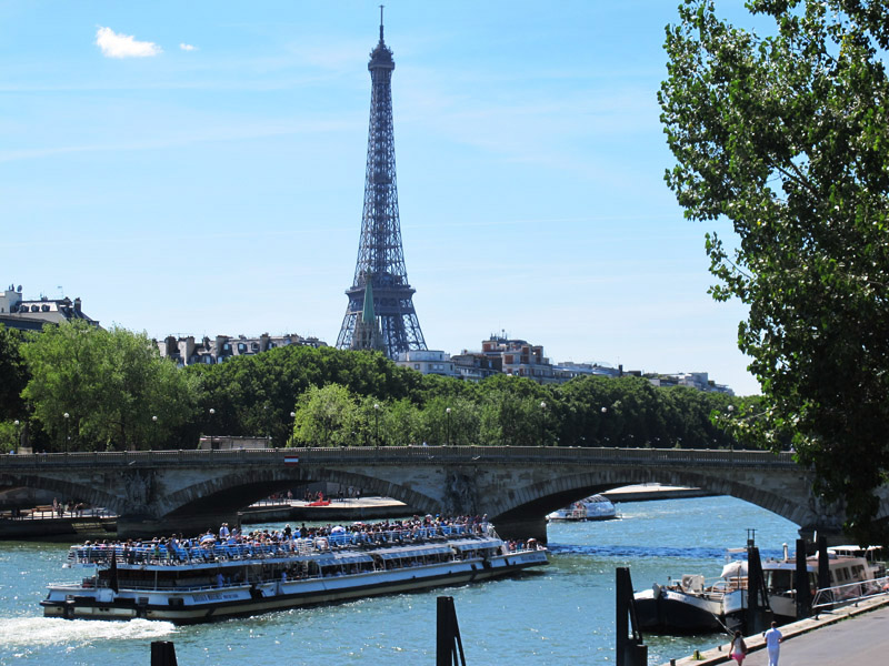 Vue sur le Tour Eiffel