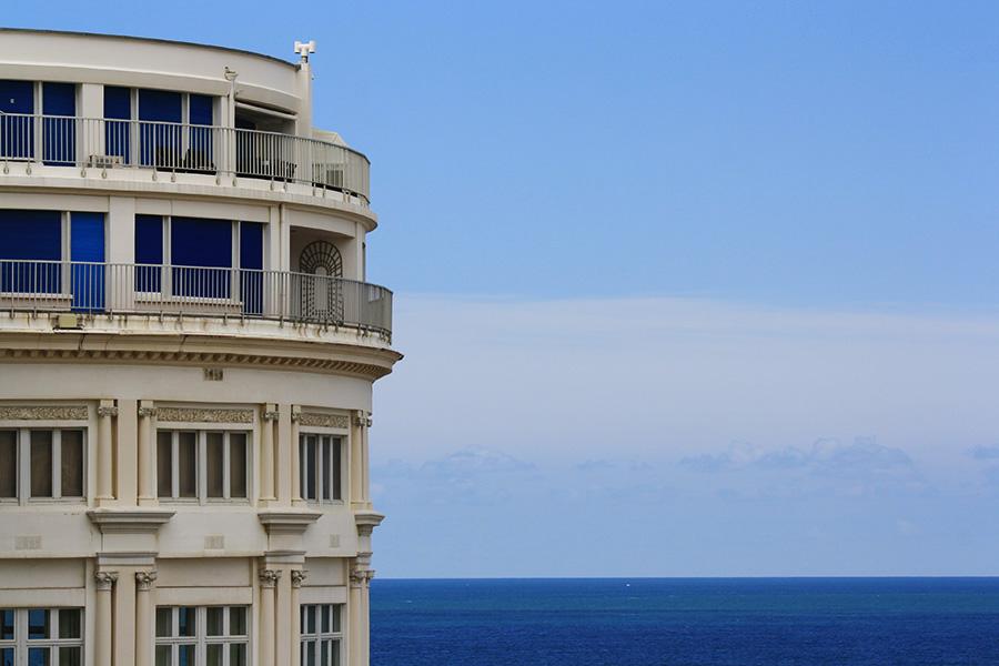 Hotel de Biarritz et vue sur l'océan