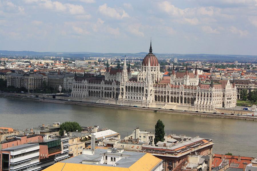 Vue sur le parlement, Budapest
