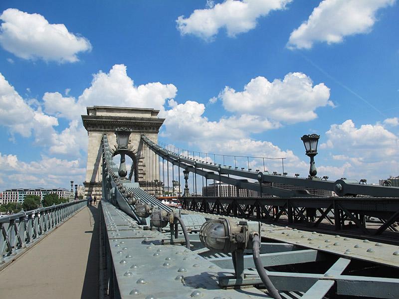 Le pont de chaîne de Budapest