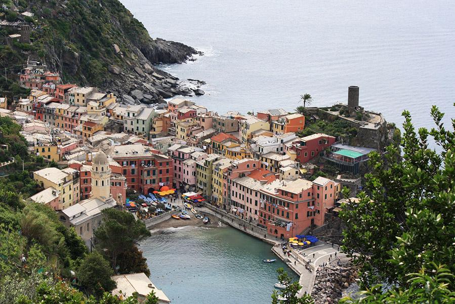 Vue sur un village des Cinque Terre