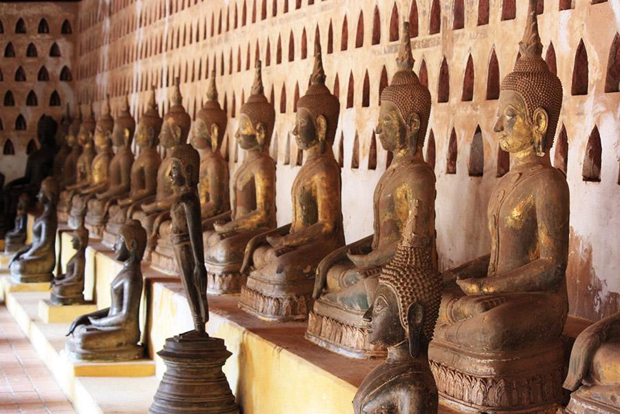 bouddha, mudra, prise à témoin