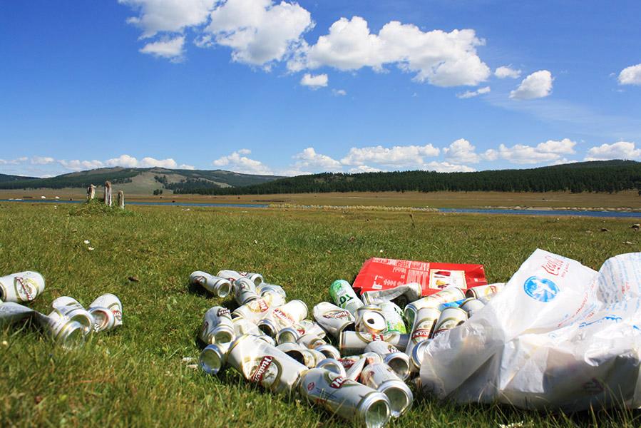 Mongolie déchets lac Kosvgol