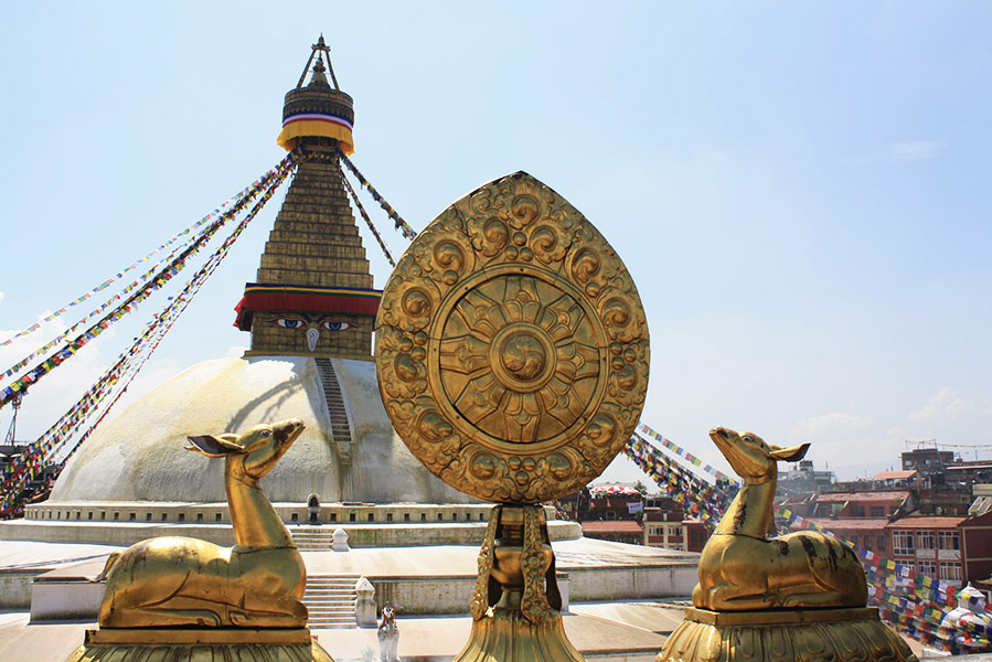 stupa de bodnat, nepal