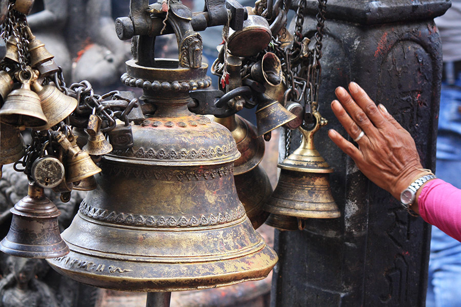 nepal, temple des signes de swayambunath