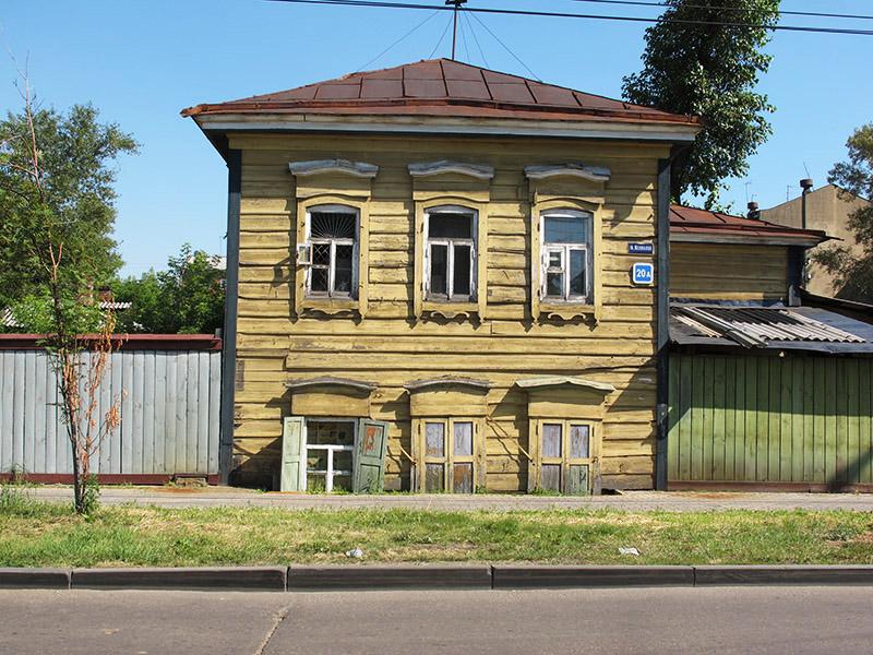 Maison typique de Russie à Irkourtsk