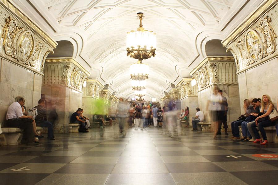 Couloir du métro de Moscou, musée souterrain
