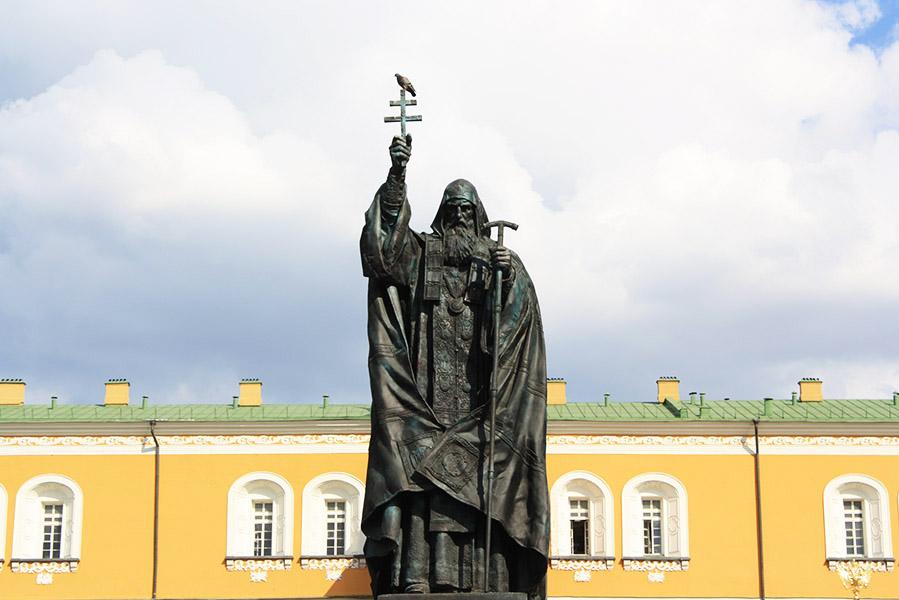 Statue religieuse en Russie