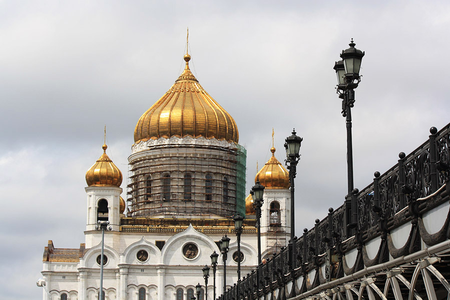 Cathédrale du Christ Sauveur de Moscou en Russie