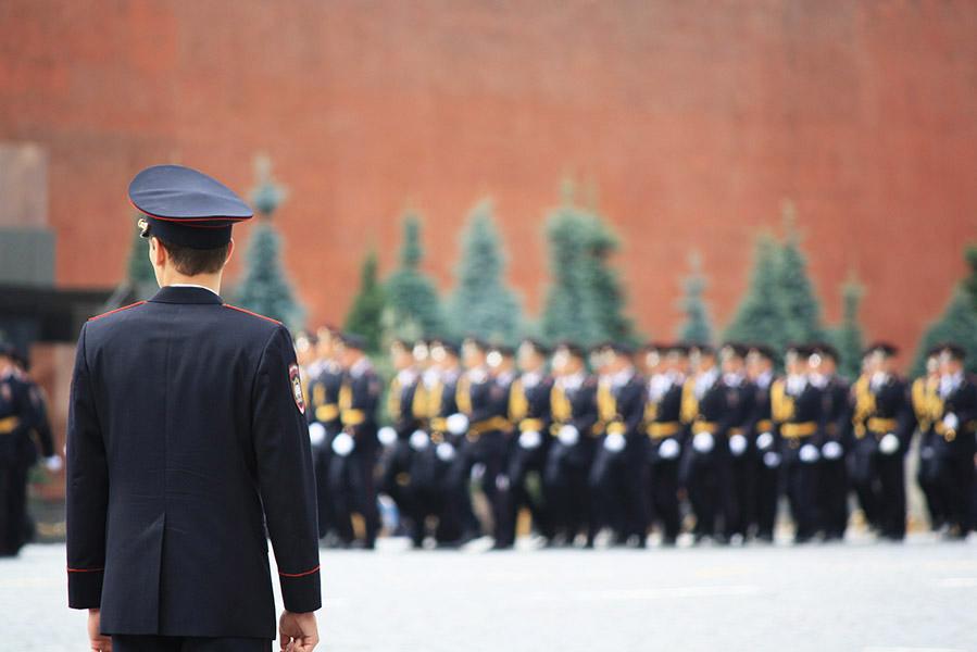 Défilé militaire sur la place rouge de Moscou en Russie
