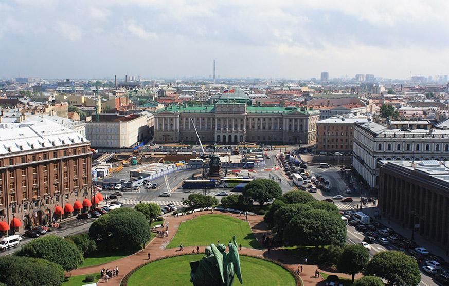 Vue sur Saint Petersbourg