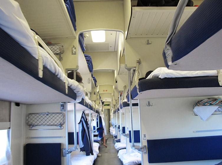 Compartiment 3e classe dans train russe