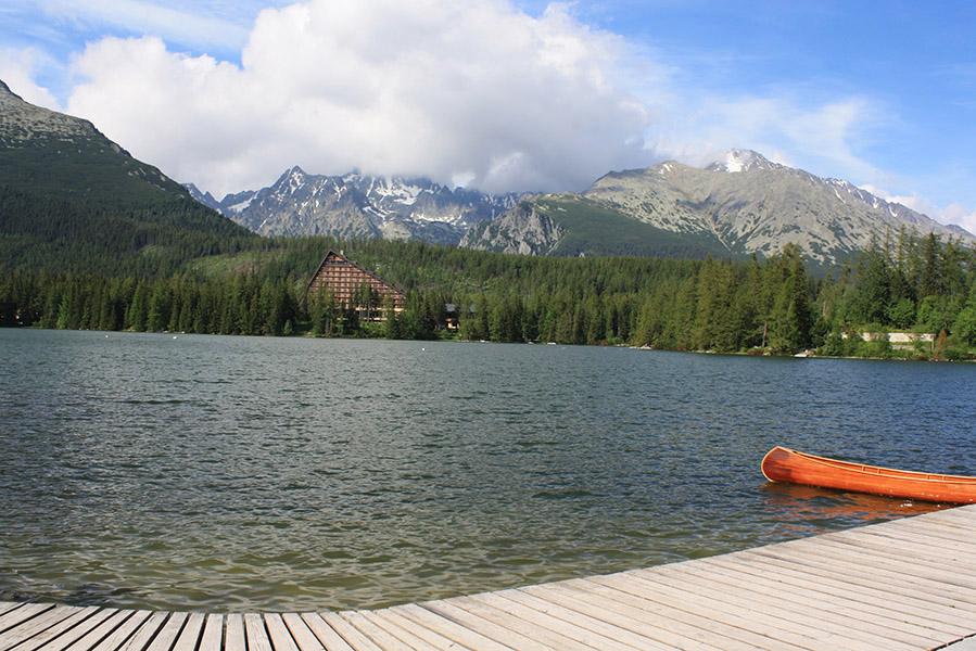 Štrbské Pleso et son lac