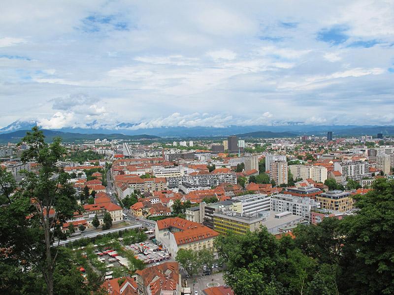 Vue du château de Ljubljana