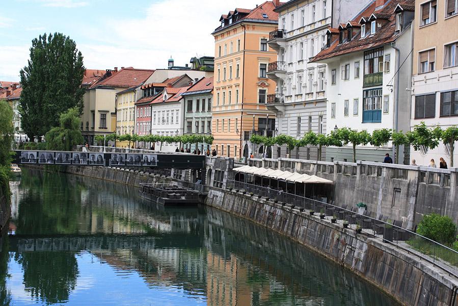 Canal de la capitale slovène