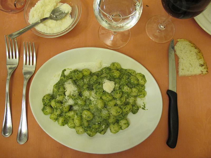 Gnocchis de trattoria à Florence