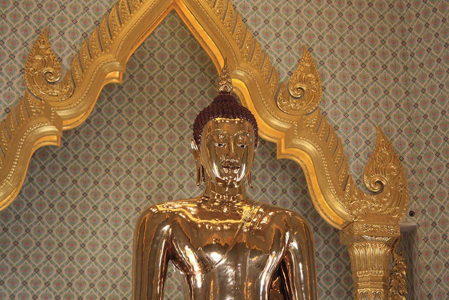 Bouddha assis, bangkok, thailande