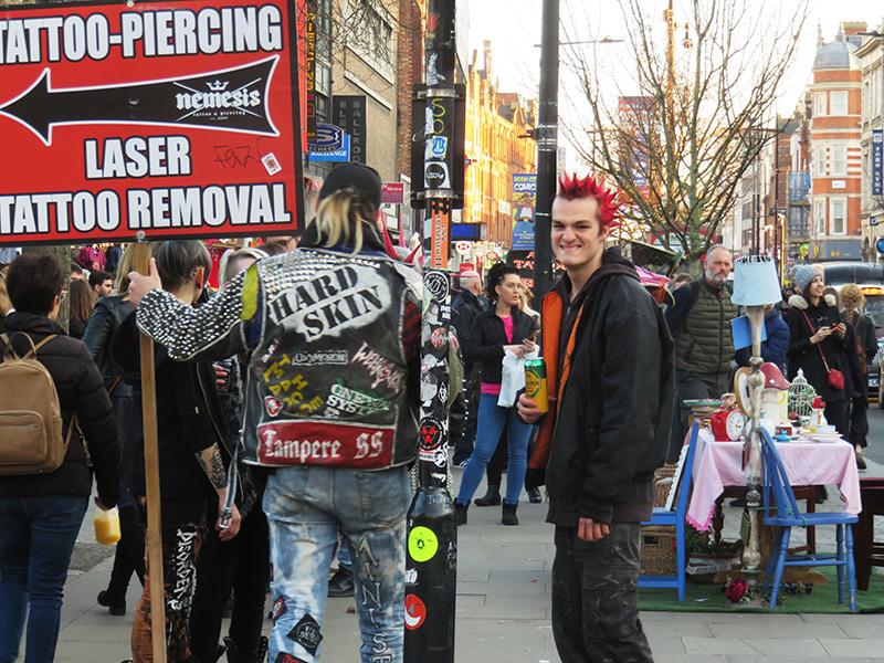 Camden punks à crêtes