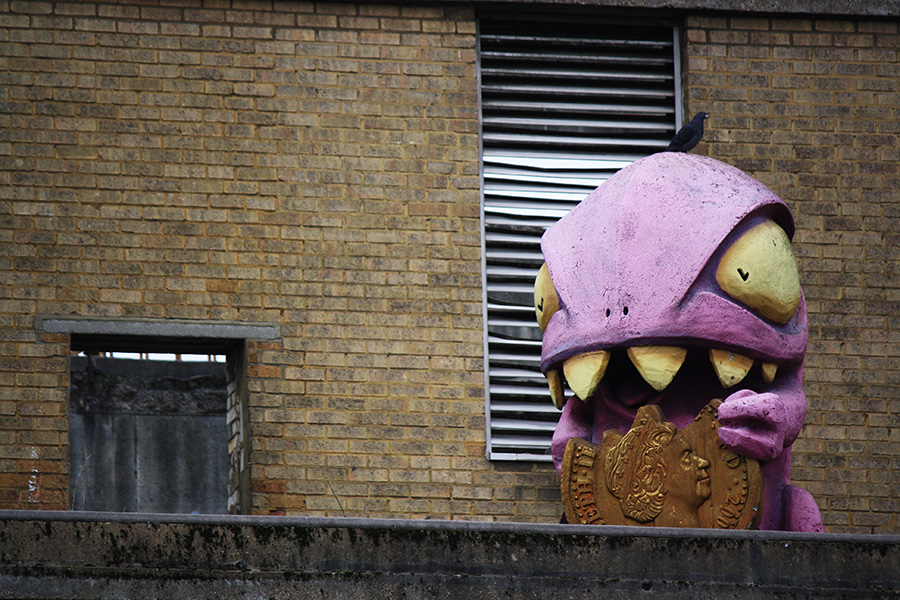 Old Truman Brewery, street-art, Ronzo, Crunchy