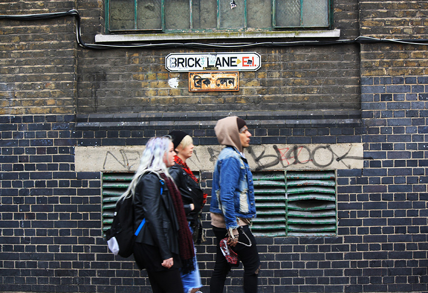 Brick Lane London punks